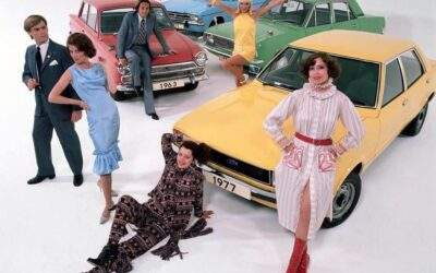 All dressed up for the launch of the Cortina MkIV.