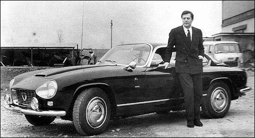 Mastroianni y su Lancia Flaminia