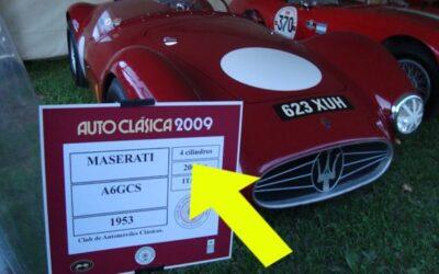 Un Maserati A6GCS de cuatro cilindros