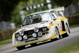 The most aggressive of all the rally race cars by Audi: The Audi Sport quattro S1 from 1985 will impress fans at the Eifel Rallye Festival in Daun and the Rossfeld International Edelweiss Hillclimb in Berchtesgaden.