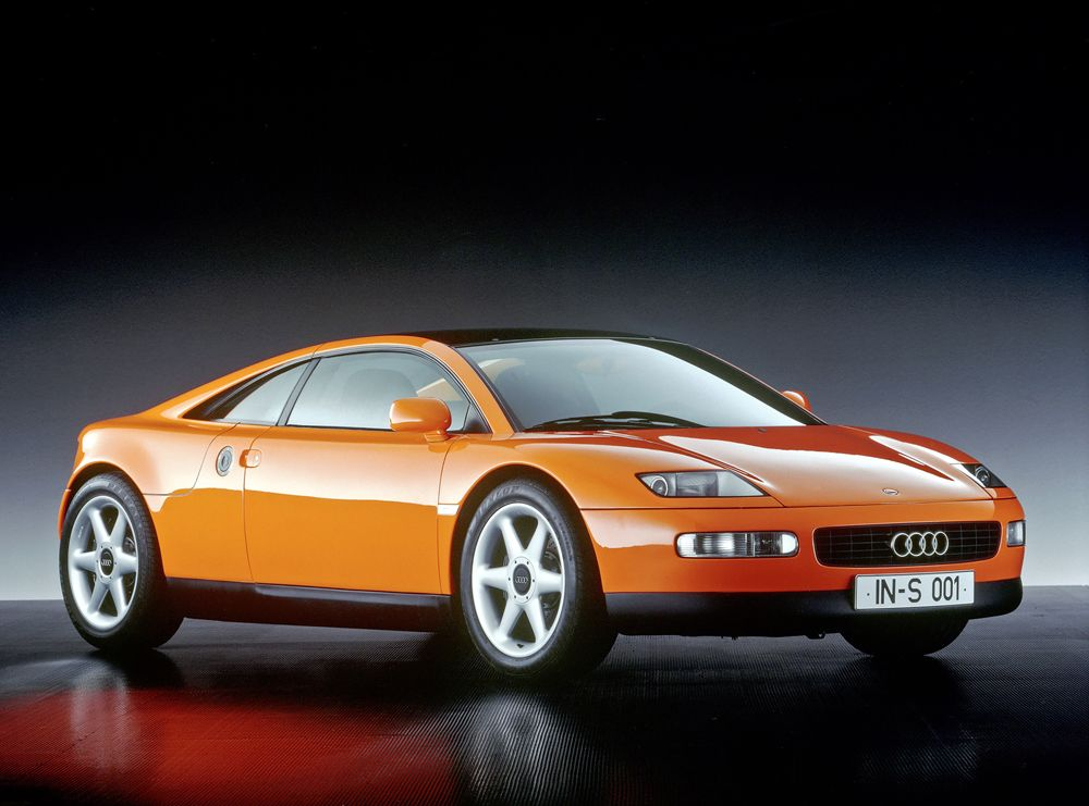 Presented at the 1991 IAA in Frankfurt: the Audi quattro Spyder.
