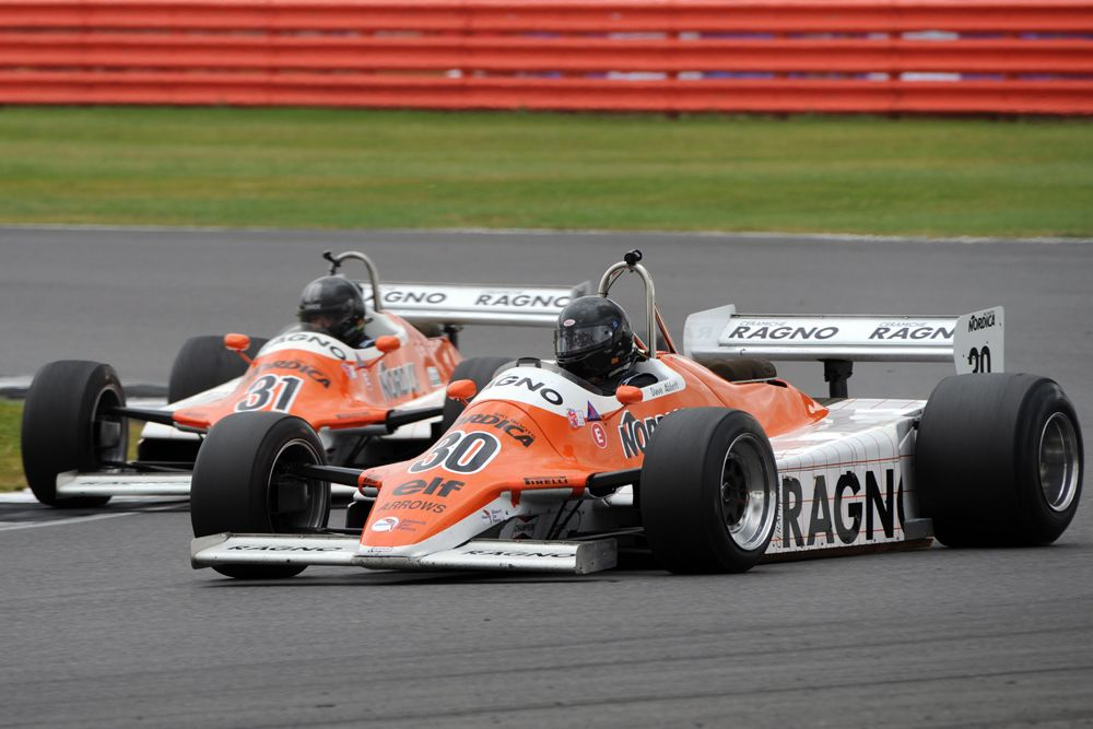 Silverstone Classic 2016, 29th-31st July, 2016, Silverstone Circuit, Northants, England. David Abbott Arrows A4 Copyright Free for editorial use only Mandatory credit Ai?? Jakob Ebrey Photography