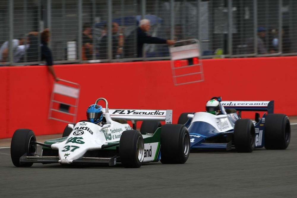 Silverstone Classic 2016, 29th-31st July, 2016, Silverstone Circuit, Northants, England. Christophe D'Ansembourg Williams FW07/C Copyright Free for editorial use only Mandatory credit Ai?? Jakob Ebrey Photography