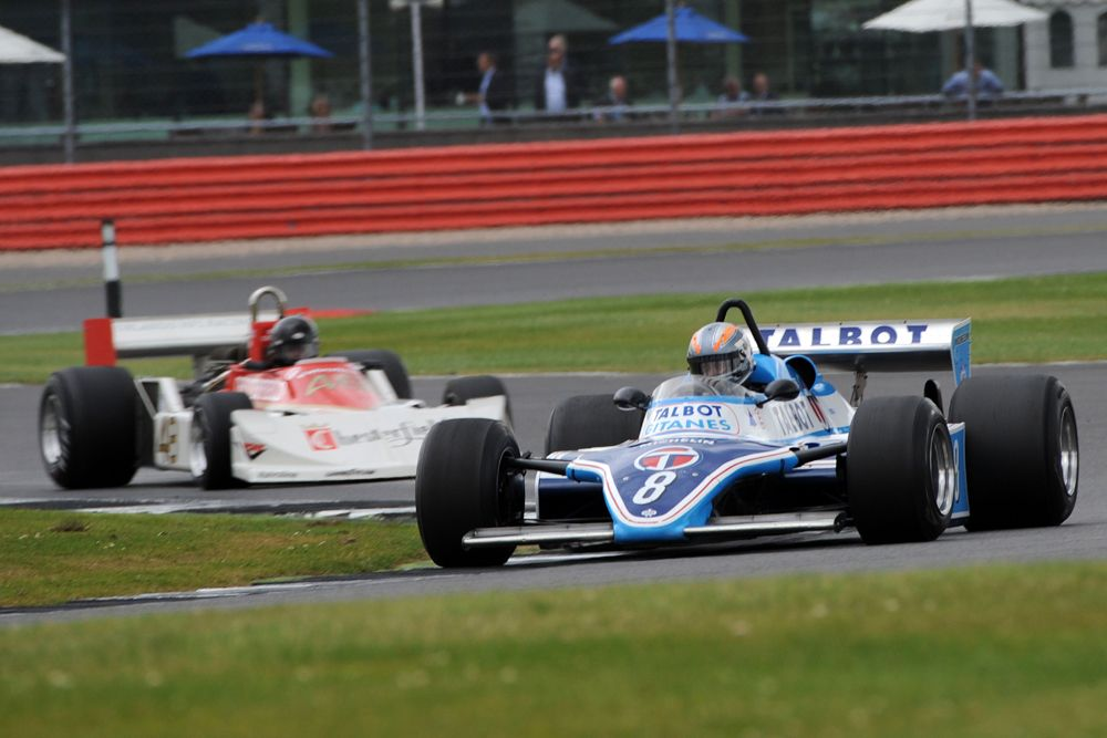 Silverstone Classic 2016, 29th-31st July, 2016, Silverstone Circuit, Northants, England. Rob Hall Ligier JS/17 Copyright Free for editorial use only Mandatory credit Ai?? Jakob Ebrey Photography