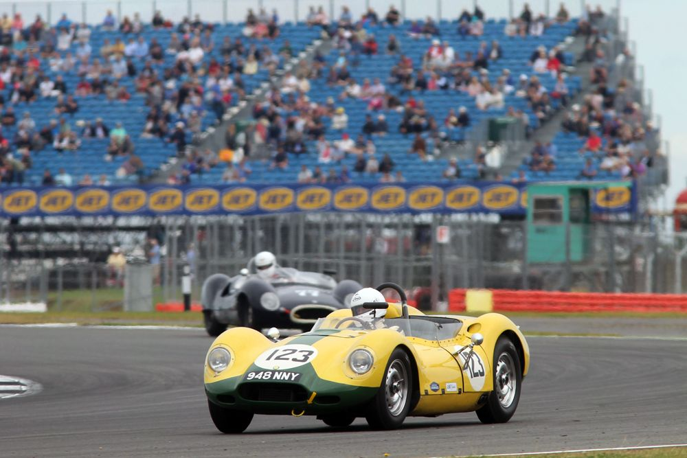 Silverstone Classic 2016, 29th-31st July, 2016, Silverstone Circuit, Northants, England. Chris Lunn Lister Jaguar Knobbly Copyright Free for editorial use only