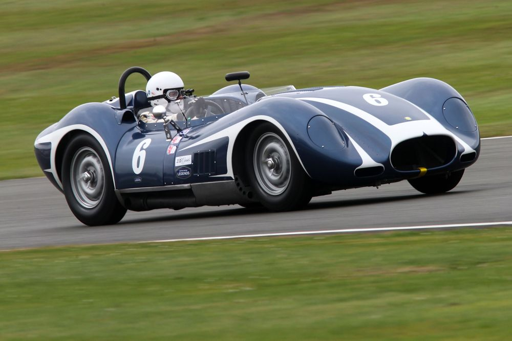 Silverstone Classic 2016, 29th-31st July, 2016, Silverstone Circuit, Northants, England. Newall-Gibbon Lister Chevrolet Copyright Free for editorial use only