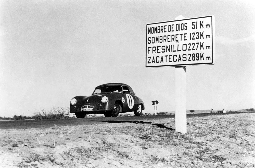 964884_1952, Porsche 356 1500 S Cabrio, FÅrst Metternich and Baron Treffe, Carrera Panamericana