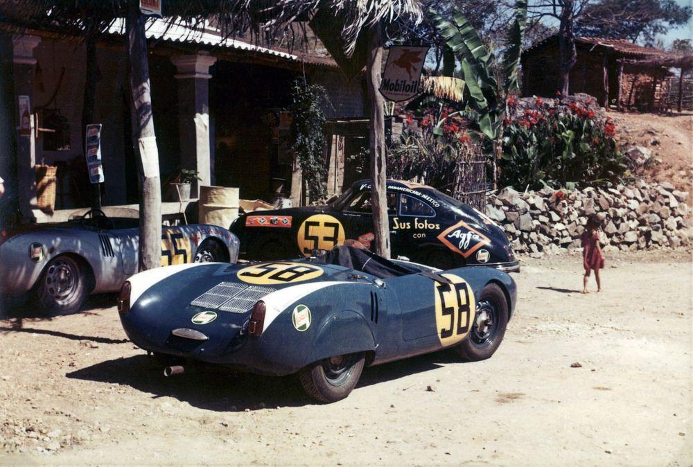 964886_1954, Porsche 550 Spyder, Hans Herrmann (no 55), Fernando Segura (no 58)_ 356 CoupÇ, Ernst-Joachim Hirz, Carrera Panamericana