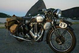 28.04.2004 - Marco Antonio Teixeira - CA - EXCLUSIVO - Norton, a motocicleta usada no filme da viagem de Che Guevara pela America Latina.