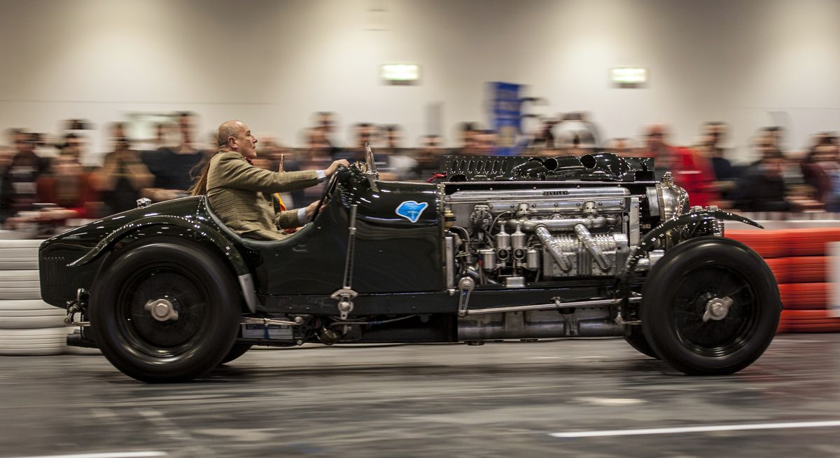 Bentley on The Grand Avenue at The London Classic Car Show 1