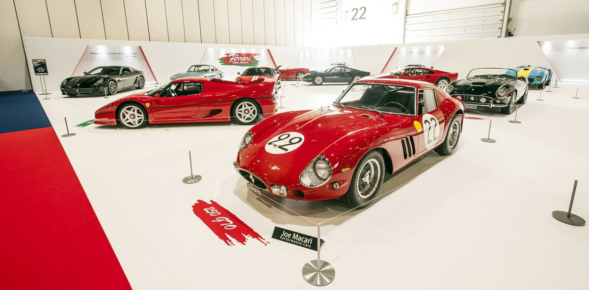 Ferrari GTO on the Ferrari Tribute display at The London Classic Car Show