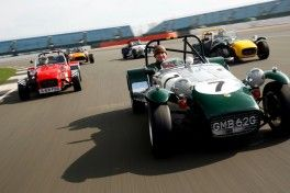 Silverstone Classic Media Day 2017, Silverstone Circuit, Northants, England. 23rd March 2017. Caterham Copyright Free for editorial use.