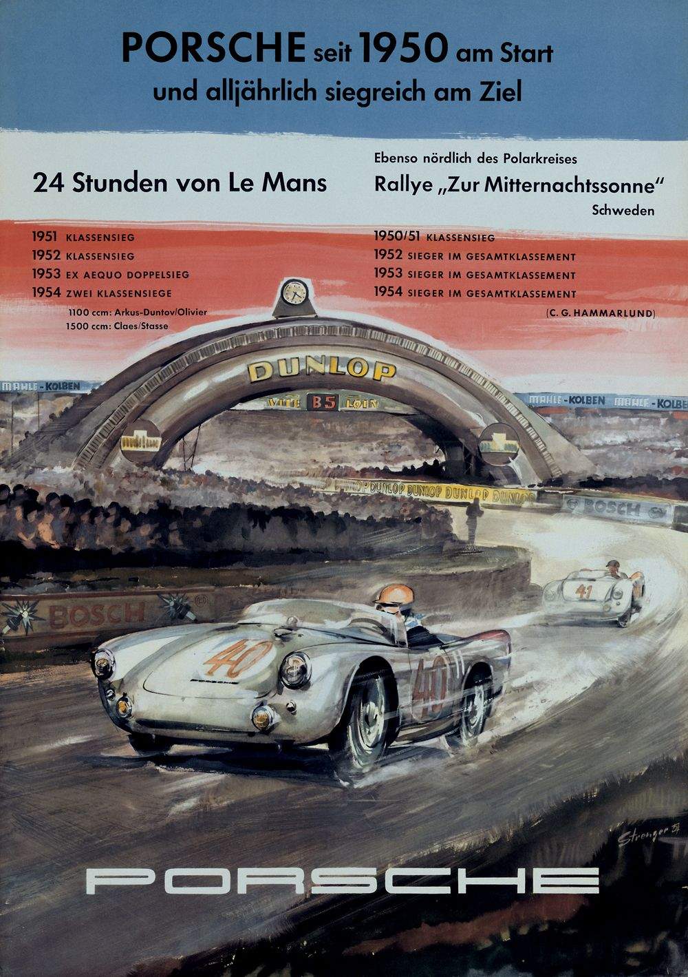 1 - PORSCHE - 24h de Le Mans 1954