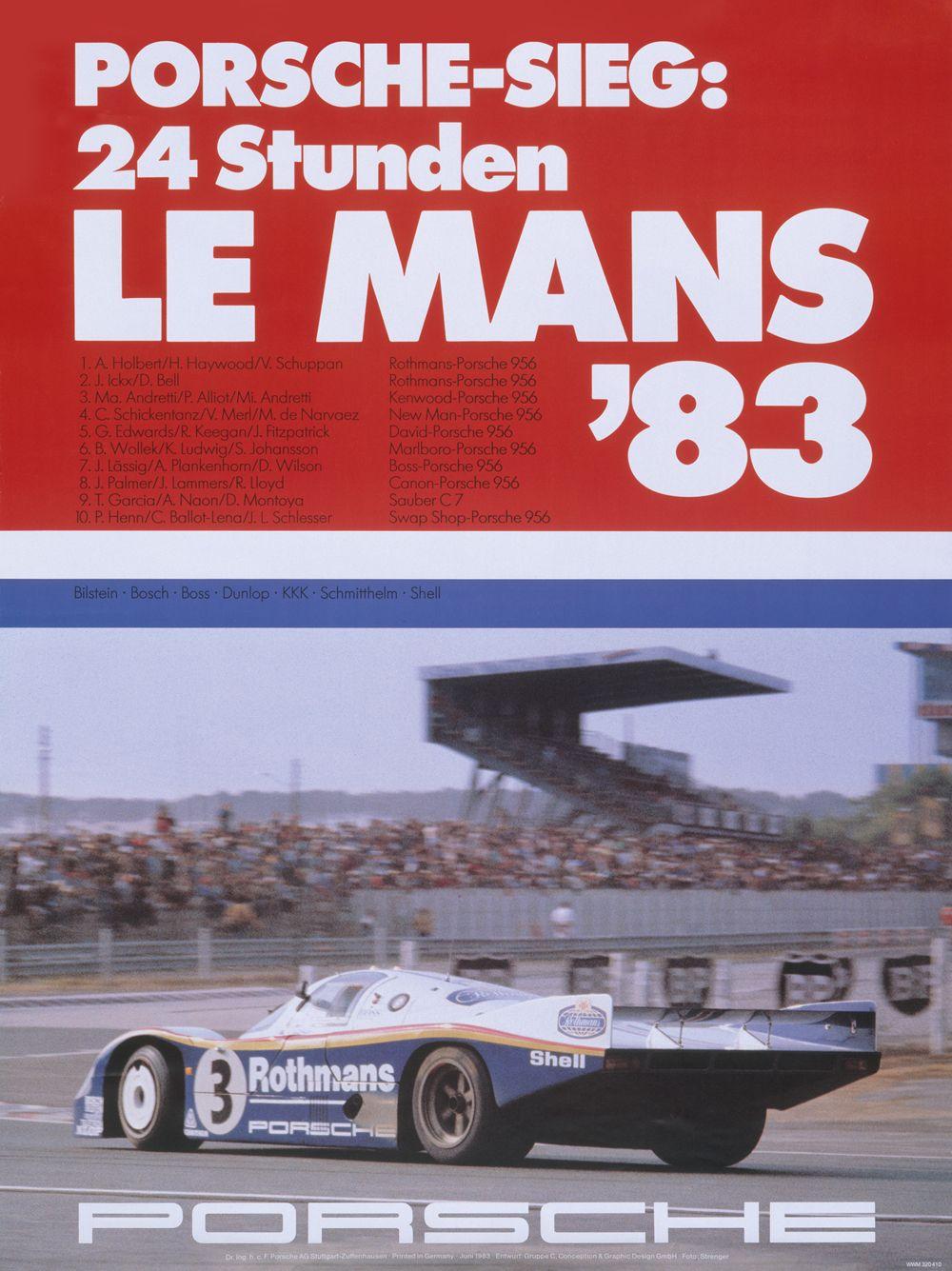 10 - PORSCHE - 24h de Le Mans 1983