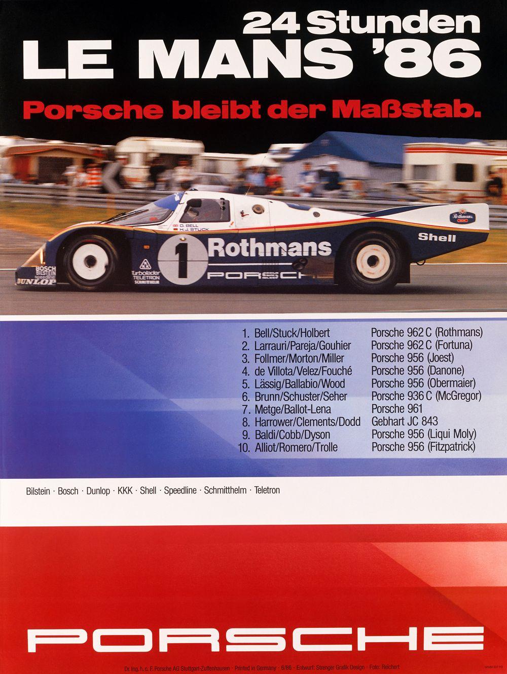 13 - PORSCHE - 24h de Le Mans 1986