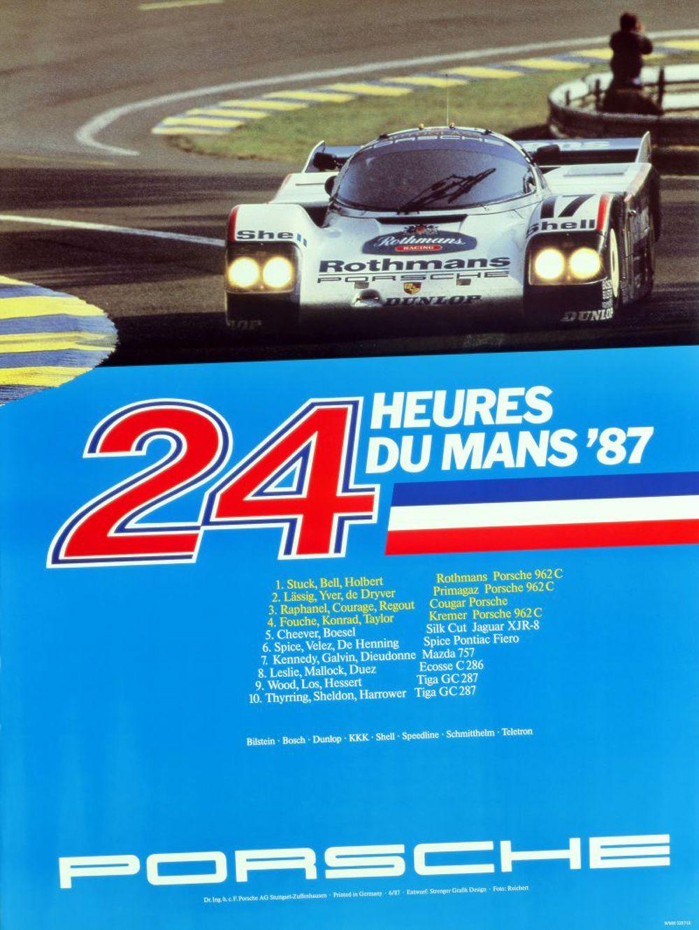 14 - PORSCHE - 24h de Le Mans 1987