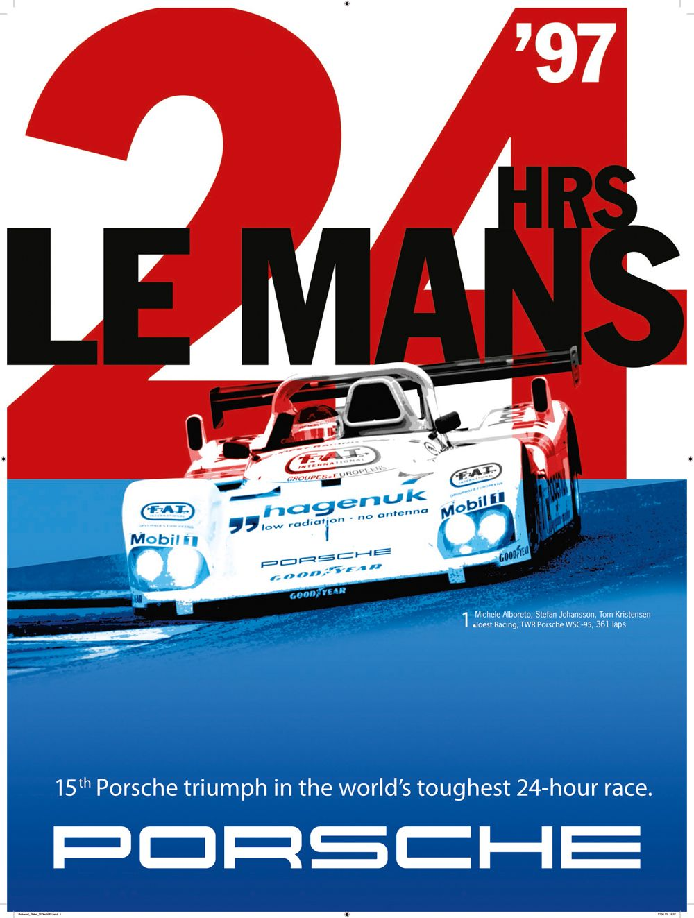 17 - PORSCHE - 24h de Le Mans 1997