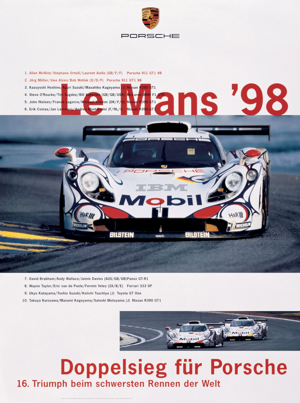 18 - PORSCHE - 24h de Le Mans 1998