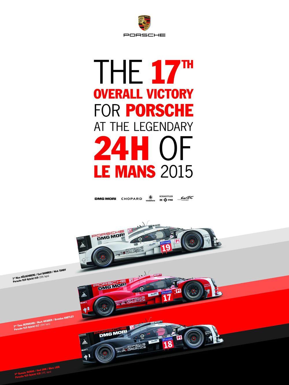 19 - PORSCHE - 24h de Le Mans 2015