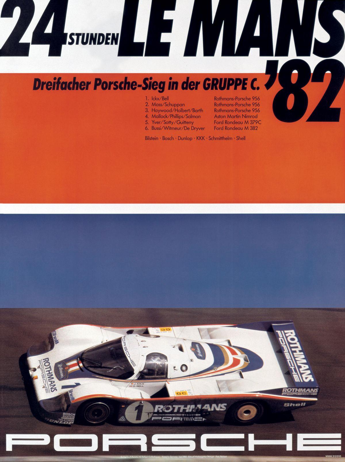 1982 PORSCHE 956 ganador