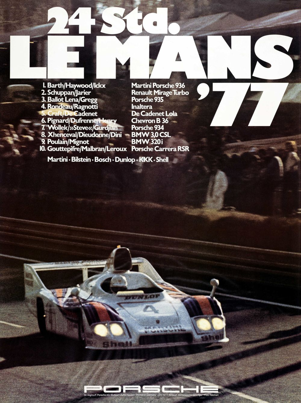 6 - PORSCHE - 24h de Le Mans 1977