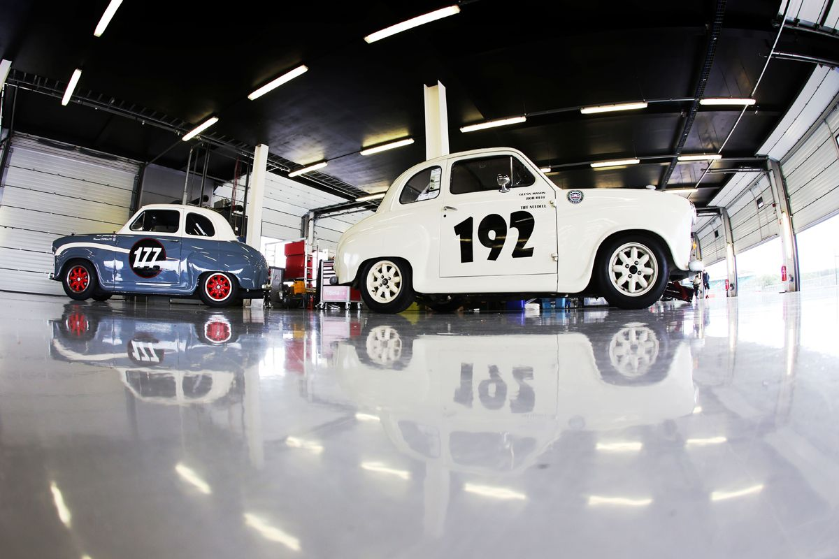 Silverstone Classic 28-30 July 2017 At the Home of British Motorsport Austin A35 Free for editorial use only Photo credit Ai?? JEP