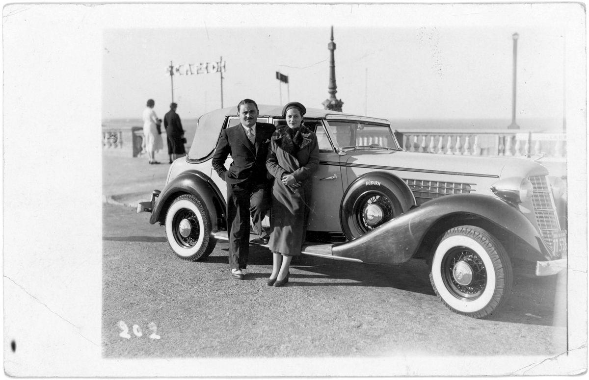 Auburn 851-852 phaeton en Mar del Plata_Enero 1937_Argentina