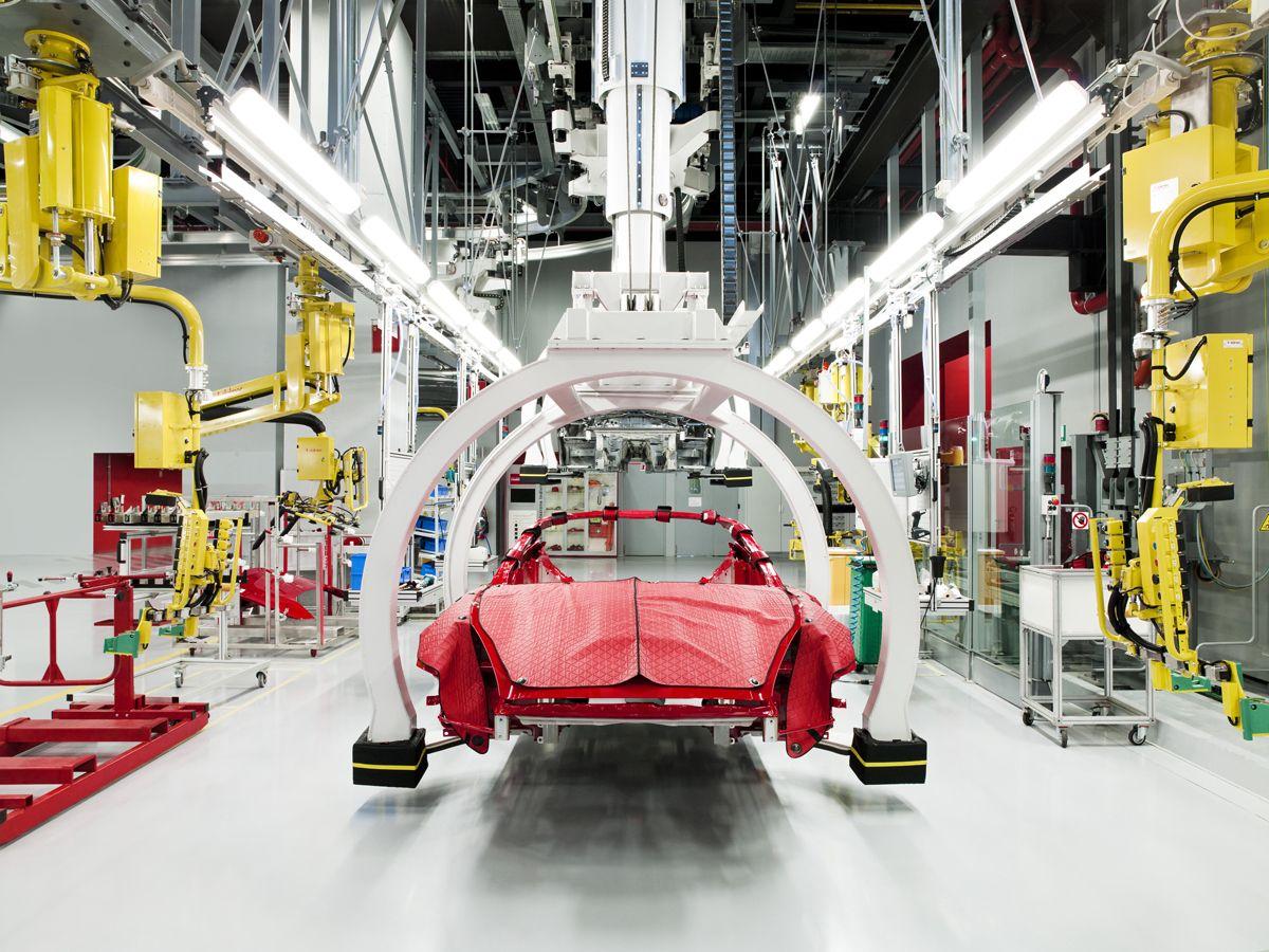 38. Present Day Manufacturing of the Ferrari California car