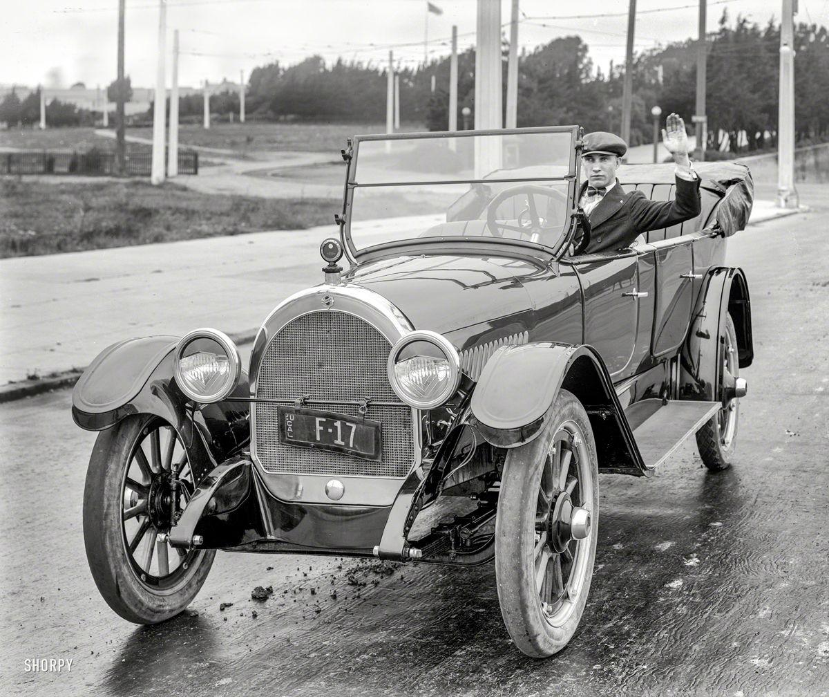 Wyland Stanley - Blaisdell - eb 102014 - 5x7 glassneg - Oldsmobile 1920