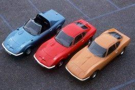 Opel Aero GT (1969),   Opel GT 1,9Ltr.S (1968-1973) & Experimental GT (1965)