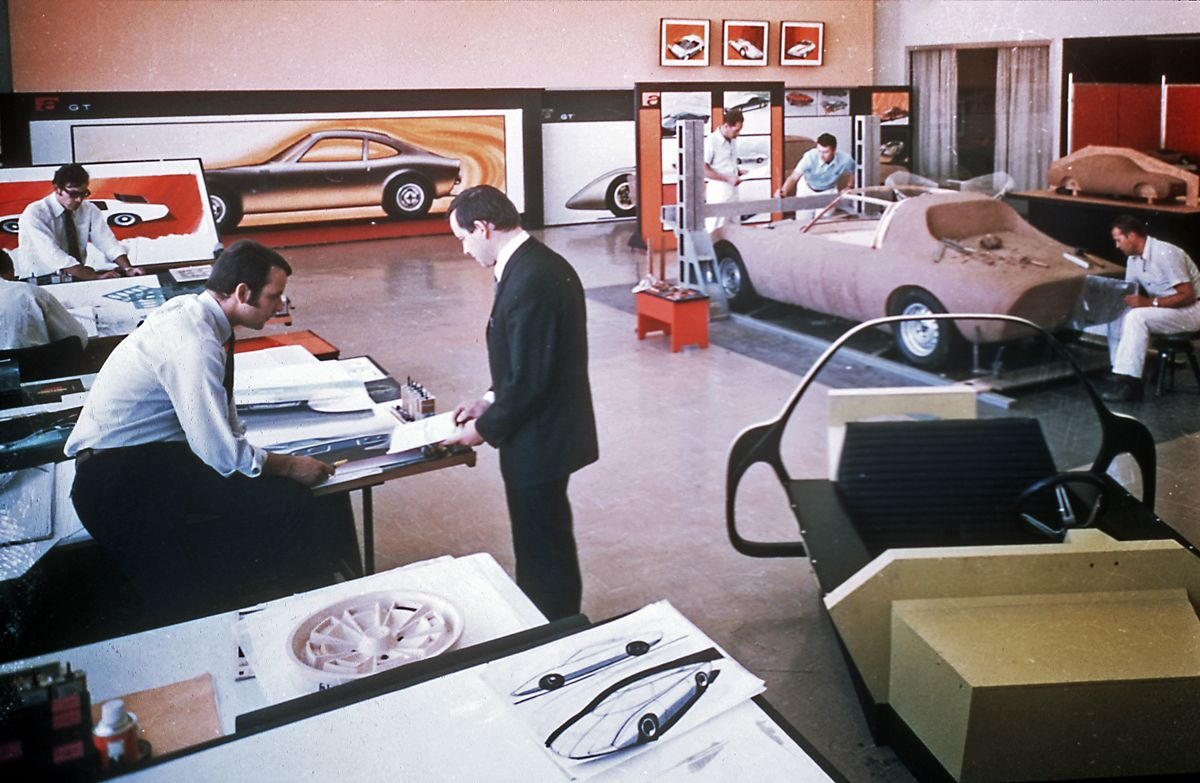 Where visions become reality: The RA?sselsheim ai???Styling Centerai??? was the first design center of a carmaker in Europe in the early 1960s.