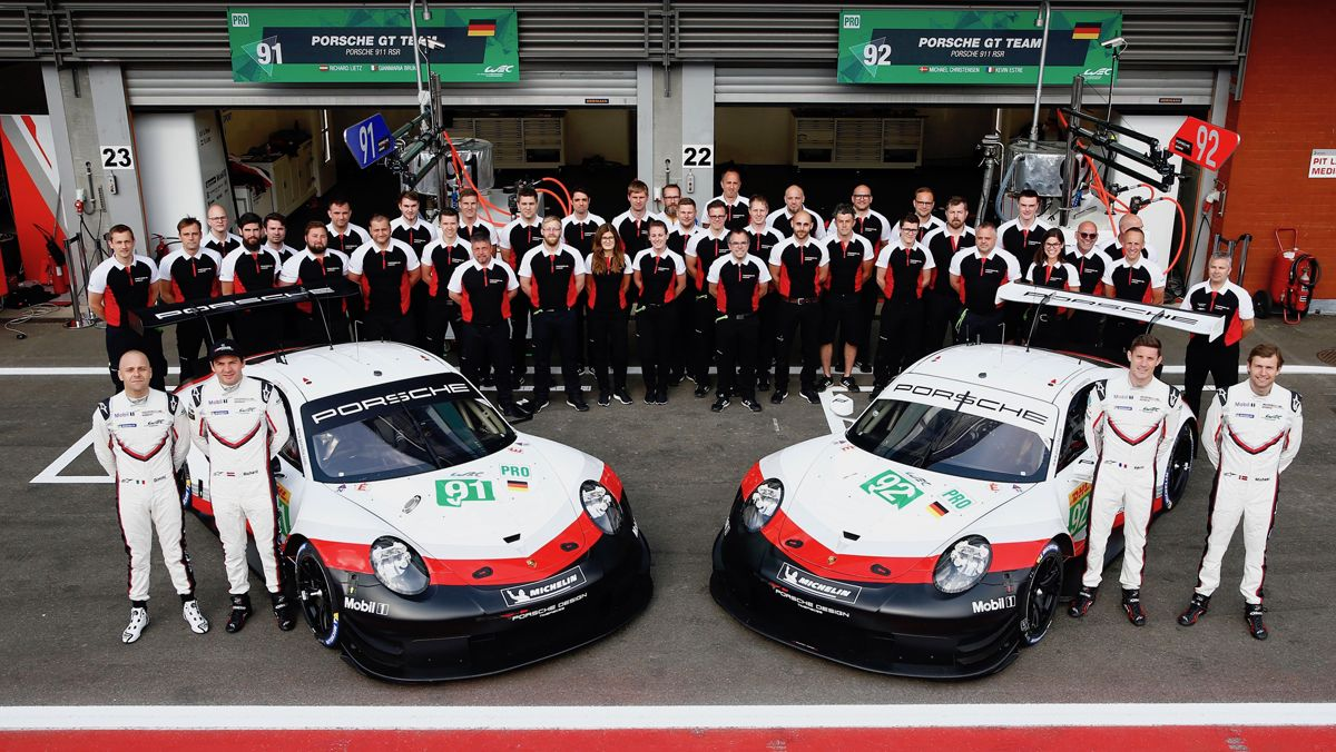 Porsche 911 RSR, Porsche GT Team (91), Gianmaria Bruni (I), Richard Lietz (A), Porsche GT Team (92), Michael Christensen (DK), Kevin Estre (F), Spa-Francorchamps 2018