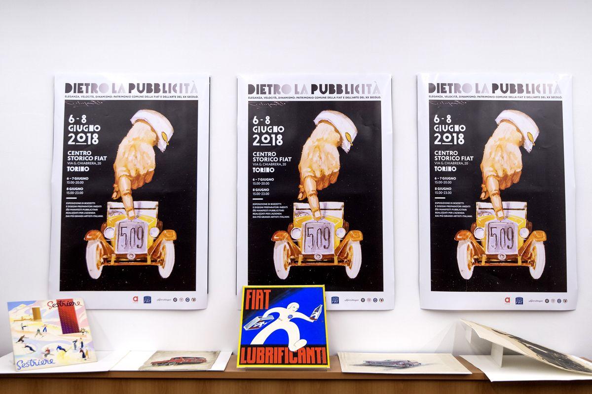 Foto LaPresse/Nicolò Campo 5/06/2018 Torino (Italia) Cronaca Mostra 'Dietro la pubblicità' nel Centro Storico Fiat in via Chiabrera Nella foto: veduta generale Photo LaPresse/Nicolò Campo June 5, 2018 Turin (Italy) News Exhibition 'Behind the advertising' in the Fiat Historic Center in via Chiabrera In the picture: general view