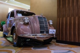 Toyoda Model AA replica on display in the Grand Foyer during the 2018 Automotive Hall of Fame Ceremony
