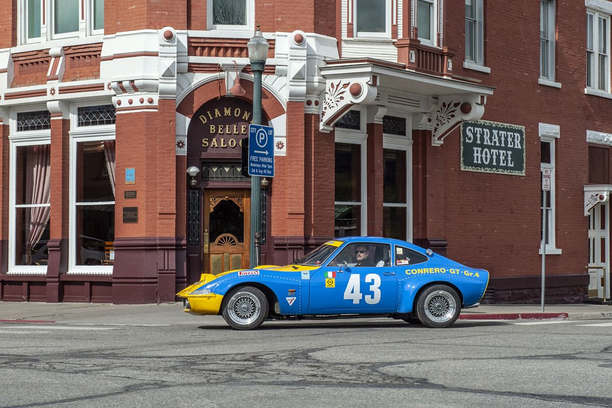 USA-Tour anlässlich des 50. Opel-GT-Geburtstages, Mai 2018. Conrero Gt in Durango, Colorado