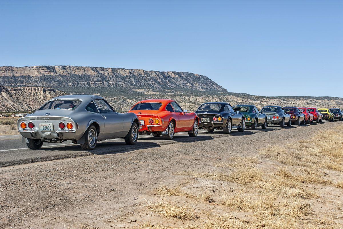 USA-Tour anlässlich des 50. Opel-GT-Geburtstages, Mai 2018. GT.Parade in der Mojave-Wüste.