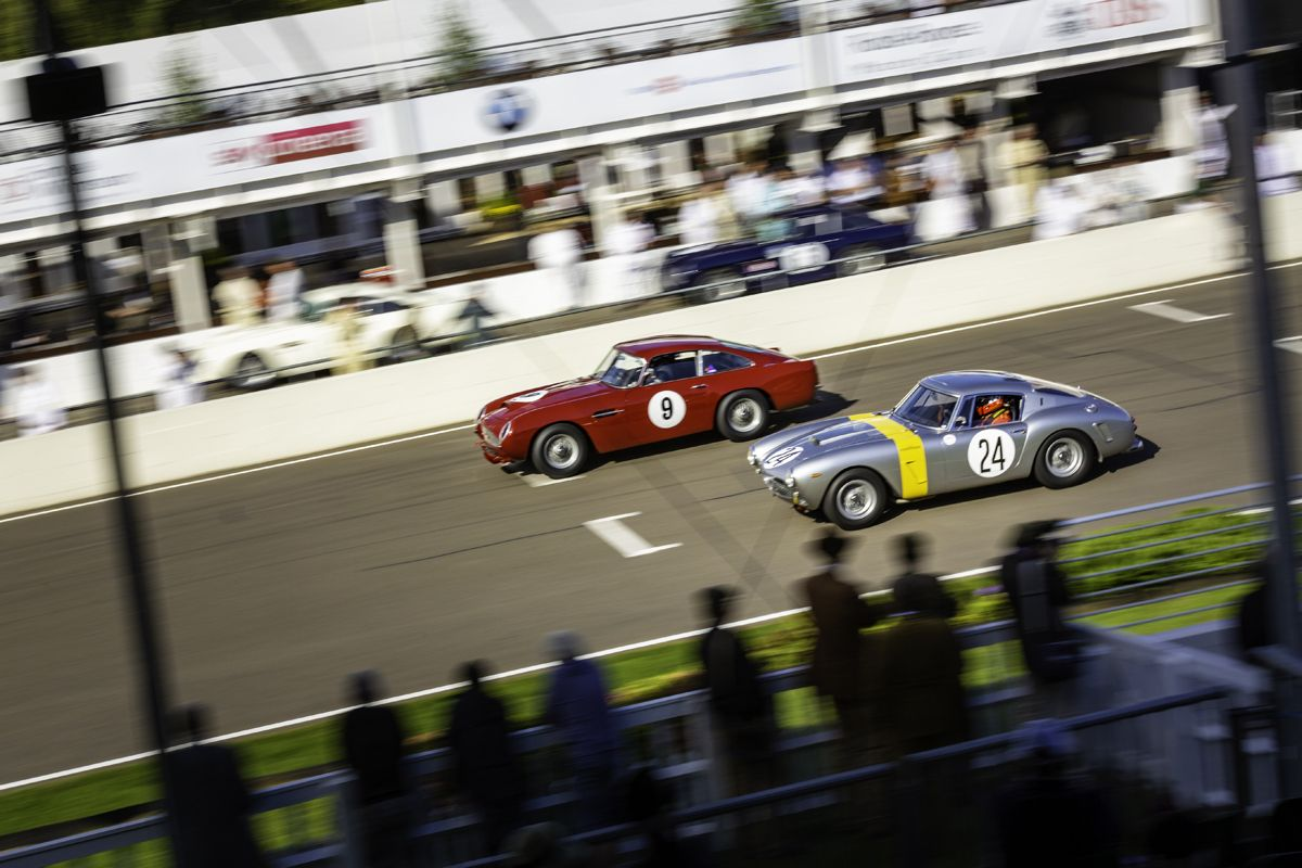 The contestants in the Kinrara Trophy head out onto the track at the 20th anniversary Goodwood Revival at Goodwood Motor Circuit near Chichester, West Sussex. Picture date Friday 7th September, 2018. Picture by Christopher Ison. Contact +447544 044177 chris@christopherison.com