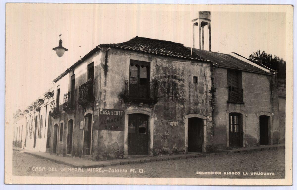 Uruguay_Colonia_Ruinas de la casa del General Bartolomé Mitre_1955