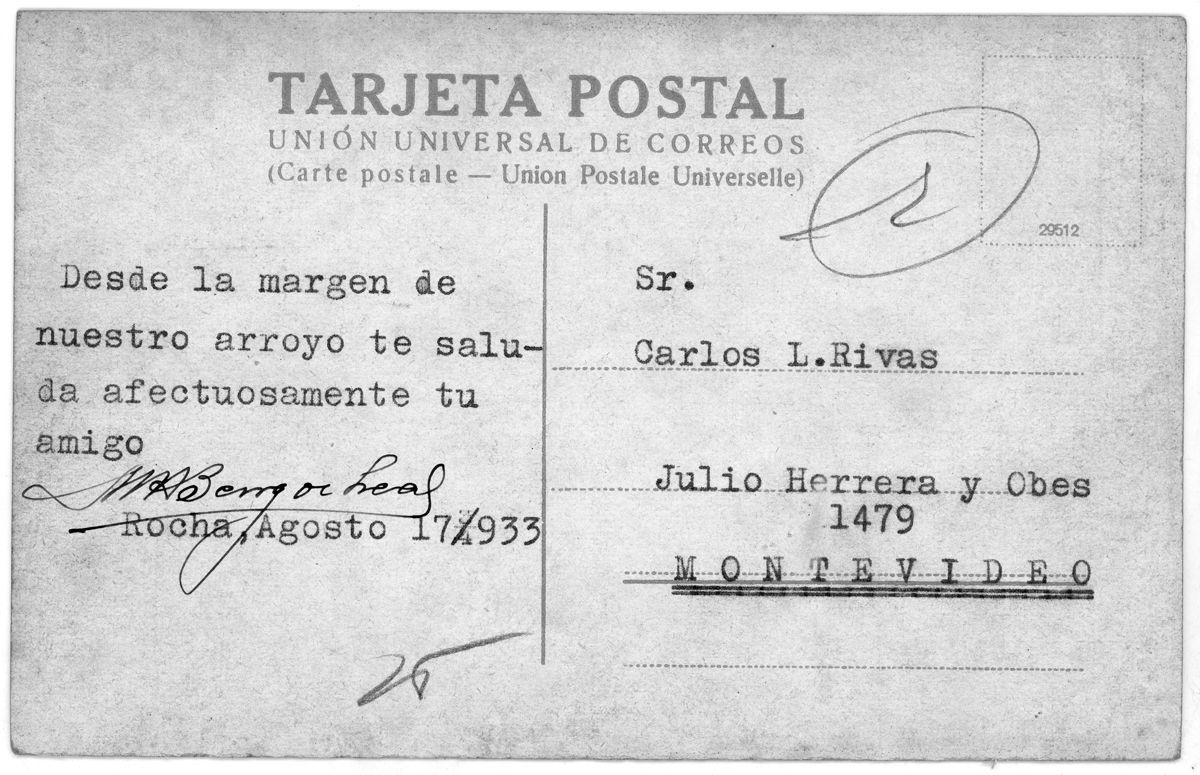 Uruguay_Rocha_Vista del Paso Real_Postal B