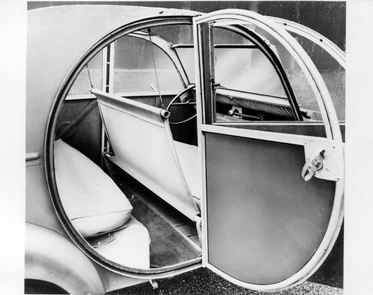 2CV , Prototipo dell 1938 , interno e portiera