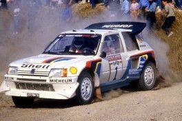 Timo Salonen (FIN) Seppo Harjanne (FIN) Peugeot 205 T16 E2 GrB Peugeot Talbot Sport