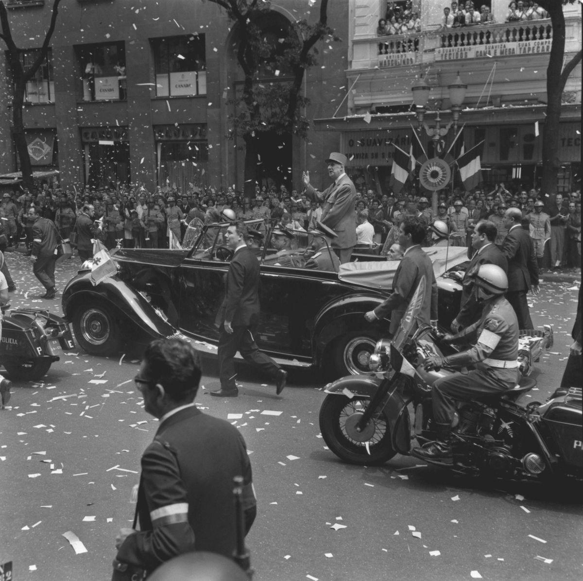 13.10.1964 - Arquivo / Reprodu‹o - CA - Presidente francs Charles de Gaulle - Visita ao Brasil