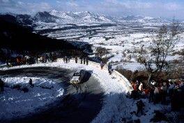 """Monte"" driving scene 1984: Röhrl/Geistdörfer in an Audi Rally quattro A2."