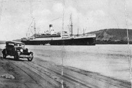 Cap Norte en Santos 1928 postal anverso_Brasil_slider