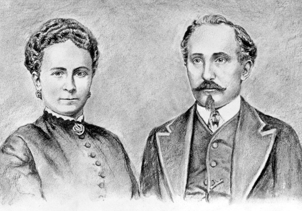 1354152_16075_Zeichnung Sophie und Adam Opel (1868)