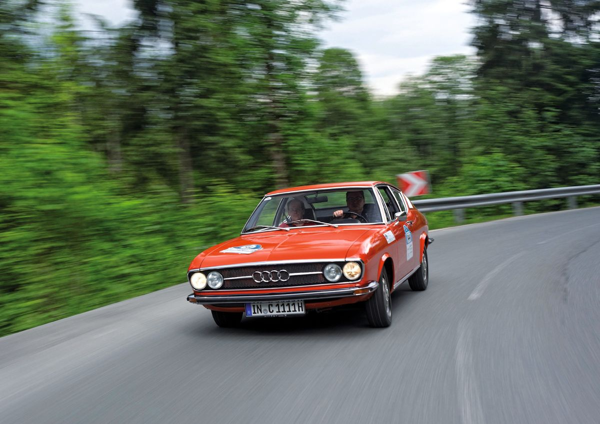 Completely new, the Bodensee Klassik: an Audi 100 CoupŽ S is als