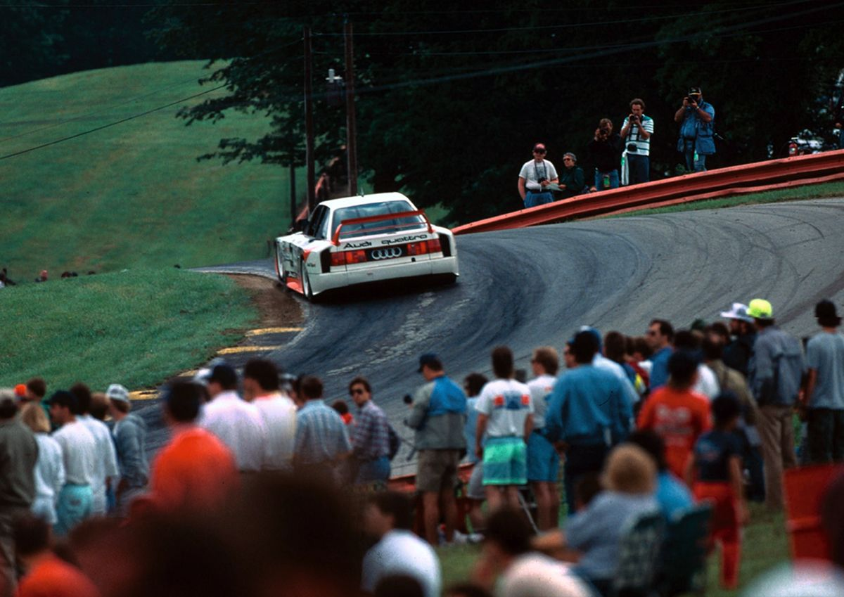 Narrow, winding roads, broken asphalt - the perfect terrain for the Audi 90 IMSA GTO.