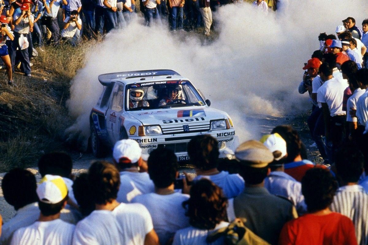 Timo Salonen (FIN) Seppo Harjanne (FIN) Peugeot 205 Turbo 16 E2 GrB Peugeot Talbot Sport 2nd position