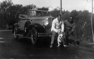 Justo Suárez, su Oakland y su perro