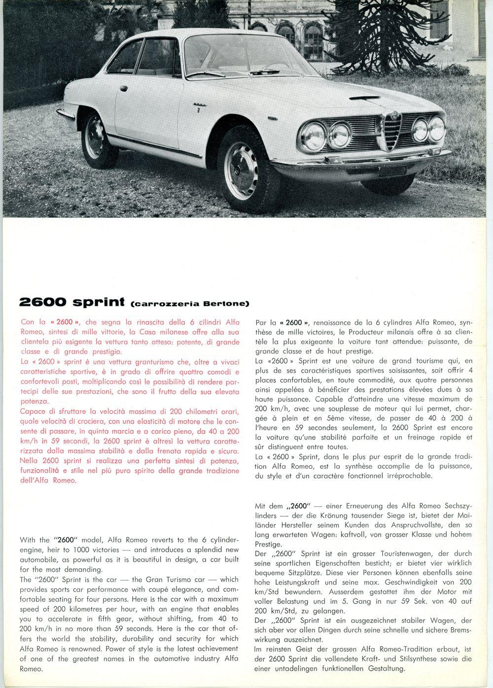 Alfa Romeo 2600 Sprint A